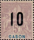[Issues of 1904-1907 Surcharged - Distance between 0 & 5: 1½mm, Distance between 1 & 0: 2½mm, type L12]