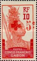 [Red Cross - Issues of 1910 Surcharged in Red, type N]