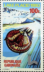 [Airmail - Winter Olympic Games - Lake Placid, type UK]