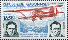 [Airmail - Aviation Anniversaries - The 50th Anniversary of First North Atlantic Flight and the 50th Anniversary of First South Atlantic Airmail, type UU]