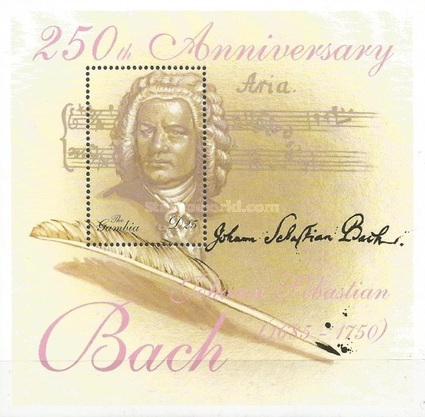 [The 250th Anniversary of the Death of Johann Sebastian Bach, 1685-1750, type ]