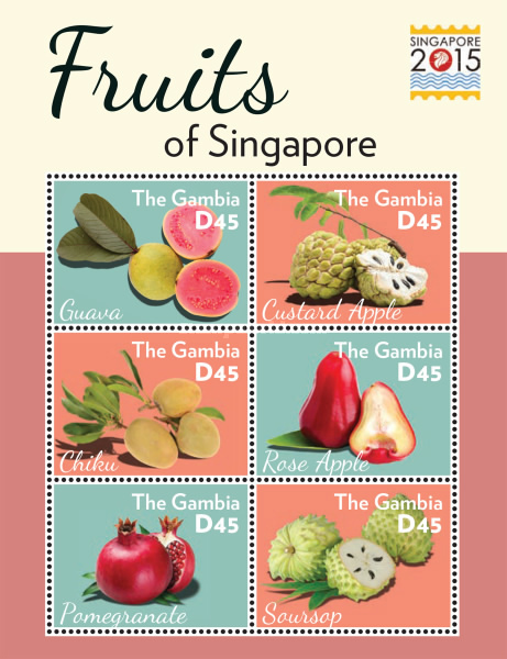 [International Stamp Exhibition SINGAPORE 2015 - Fruits of Singapore, type ]