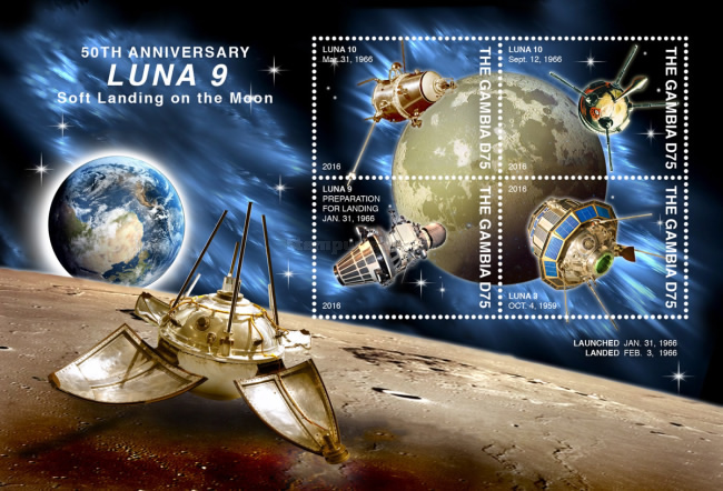 [The 50th Anniversary of the Luna 9 Soft Landing on the Moon, type ]
