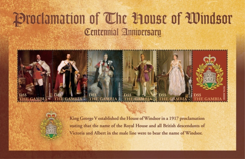 [The 100th Anniversary of the House of Windsor, type ]