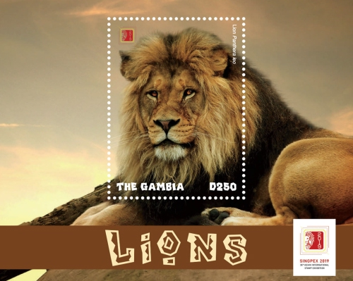 [Lions - International Stamp Exhibition SINPEX 2019, Singapore, type ]