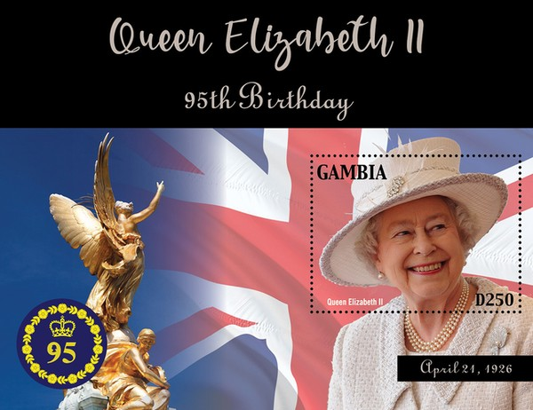 [The 95th Anniversary of the Birth of Queen Elizabeth, type ]