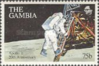 [The 20th Anniversary (1989) of First Manned Landing on Moon, type ACW]