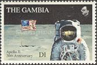 [The 20th Anniversary (1989) of First Manned Landing on Moon, type ACX]