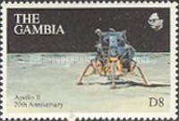 [The 20th Anniversary (1989) of First Manned Landing on Moon, type ADA]