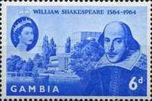 [The 400th Anniversary of the Birth of Shakespeare, 1564-1616, type BH]