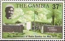 [The 10th Anniversary of Radio Gambia, type DH1]