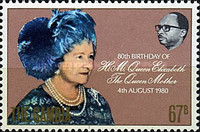 [The 80th Anniversary of the Birth of Queen Elizabeth The Queen Mother, 1900-2002, type IE]