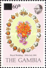 [Issue of 1981 Surcharged 60b, type IS1]