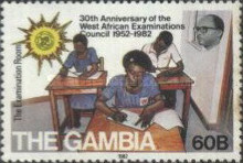 [The 30th Anniversary of West African Examinations Council, type JC]