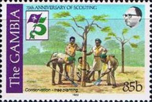 [The 75th Anniversary of Boy Scout Movement, type JF]
