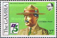 [The 75th Anniversary of Boy Scout Movement, type JH]