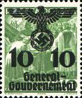 [Polish Postage Stamps Overprinted, Typ D4]
