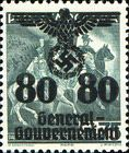 [Polish Postage Stamps Overprinted, Typ D9]