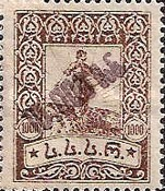 [Issue of 1922 Handstamp Surcharged in Violet or Black - Surcharge 5-6mm High, type K1]