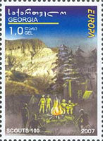 [EUROPA Stamps - The 100th Anniversary of the Scout Movement, type VV]