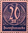 [New Government Service Stamps, Typ V2]