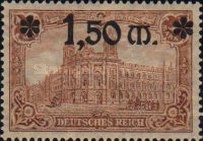 [Stamps of 1905-1911 Overprinted and in New Colors, Typ AC1]