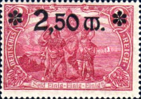 [Stamps of 1905-1911 Overprinted and in New Colors, Typ AC2]