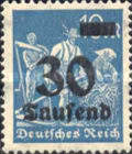 [Overprinted Stamps, Typ BB4]
