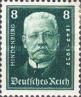 [The 80th Anniversary of the Birth of Paul von Hindenburg - Charity Stamps, Typ CR]