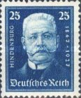 [The 80th Anniversary of the Birth of Paul von Hindenburg - Charity Stamps, Typ CR2]