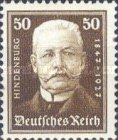 [The 80th Anniversary of the Birth of Paul von Hindenburg - Charity Stamps, Typ CR3]