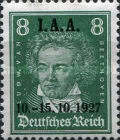 [International I.A.A. Congress - Famous Germans Stamps of 1926 Overprinted