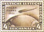 [Graf Zeppelin's North Pole Flying - Overprinted