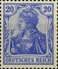 [Germania & Local Motifs - As Stamps of 1902 but Watermarked, Typ O14]