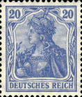 [Germania & Local Motifs - As Stamps of 1902 but Watermarked, Typ O15]