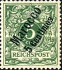 [German Empire Postage Stamps Surcharged, Typ B1]