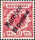 [German Empire Postage Stamps Surcharged, Typ B2]