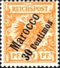 [German Empire Postage Stamps Surcharged, Typ B4]