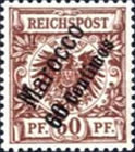 [German Empire Postage Stamps Surcharged, Typ B5]