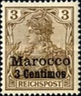 [German Empire Postage Stamps Surcharged, Typ C]
