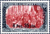 [German Empire Postage Stamps Surcharged, Typ C12]