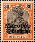 [German Empire Postage Stamps Surcharged, Typ C5]