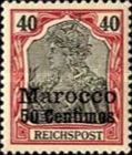 [German Empire Postage Stamps Surcharged, Typ C6]
