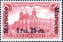 [German Empire Postage Stamps Surcharged, Typ C9]