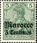 [German Empire Postage Stamp Surcharged, Typ D]