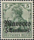 [German Empire Postage Stamps Surcharged, Typ E1]