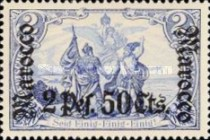 [German Empire Postage Stamps Surcharged, Typ E10]