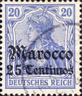 [German Empire Postage Stamps Surcharged, Typ E3]