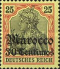 [German Empire Postage Stamps Surcharged, Typ E4]