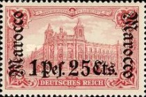 [German Empire Postage Stamps Surcharged, Typ E9]